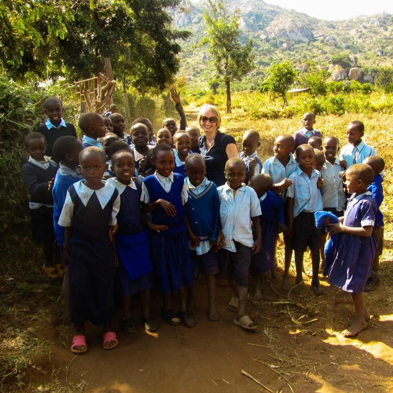 Natalie in Oeganda
